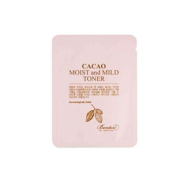Benton Cacao Moist and Mild Toner Sample 10pcs