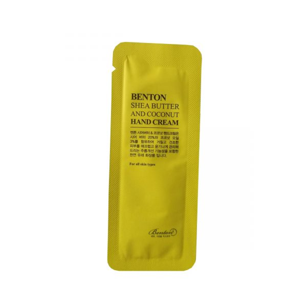 Benton Shea Butter and Coconut Hand Cream Sample 10pcs